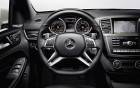 Mercedes-Benz ML 63 AMG - interior and wheel of the luxury car: 360° luxury services