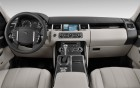 RANGE ROVER SPORT with driver - interior and wheel of the luxury car