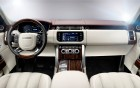 Range Rover Vogue with driver, wheel and interior